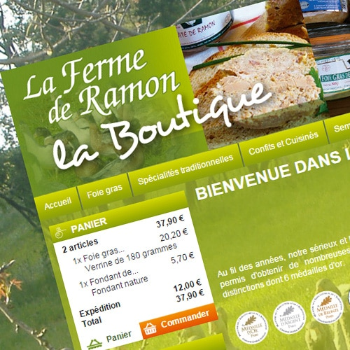 La ferme de Ramon – Boutique E-commerce à Agen